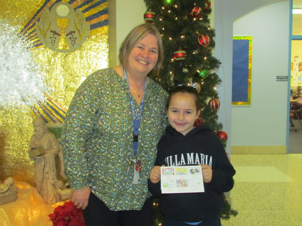 First Grader's Design Chosen to Appear on Wilmington Blue Rocks Holiday Card